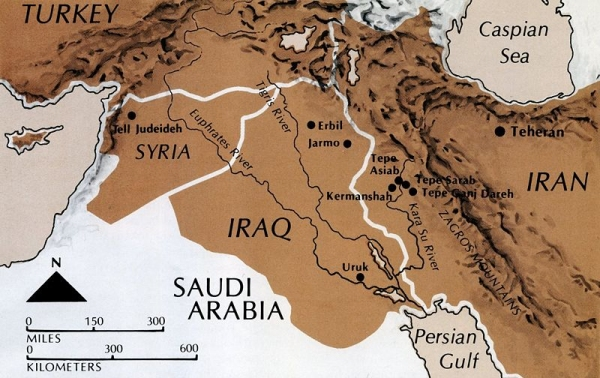 Map of Southwest Asia.